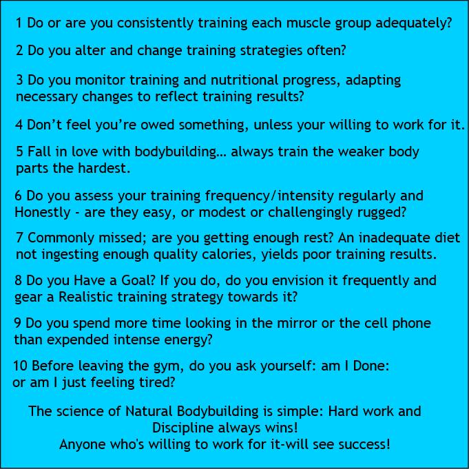 Top Ten Natural Bodybuilding