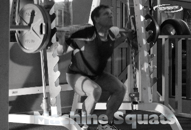 Machine squats for beginners