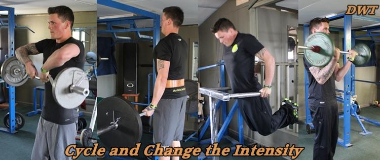 Changing intensity