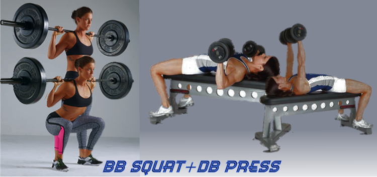 Female squat + press