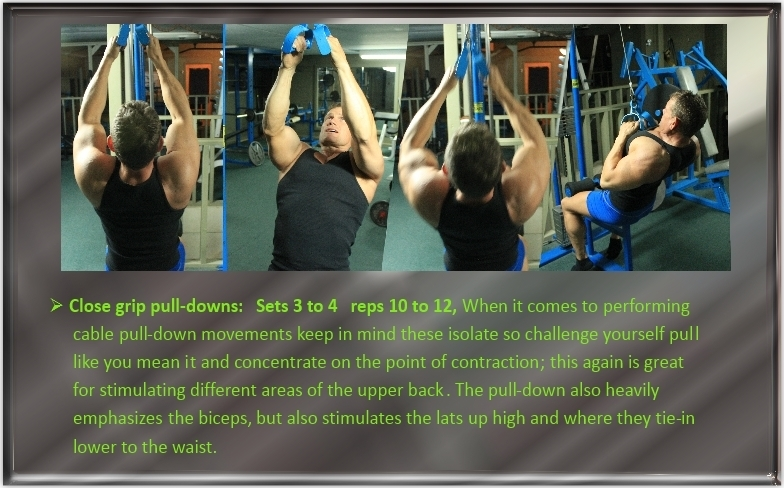 Close grip cable pulldown's