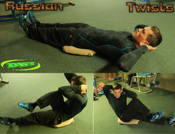 Russian twists AB exercise
