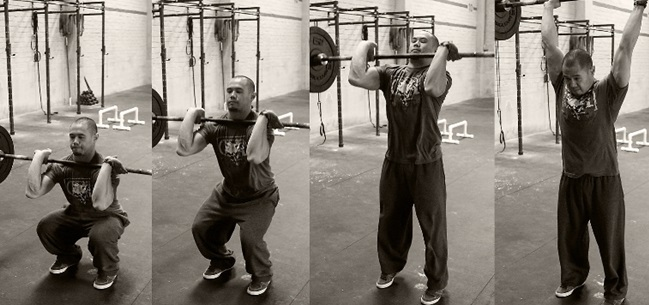 Squat thrust and press