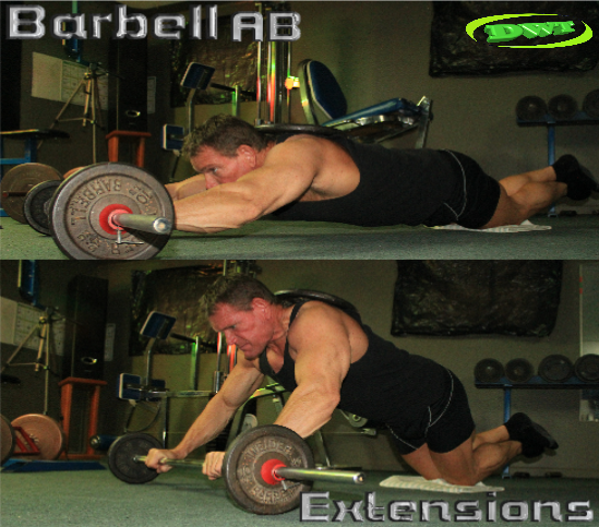 AB barbell roll-outs
