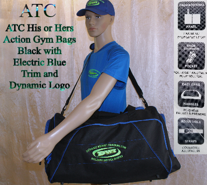 DWT, Black/Blue Gym Duffel