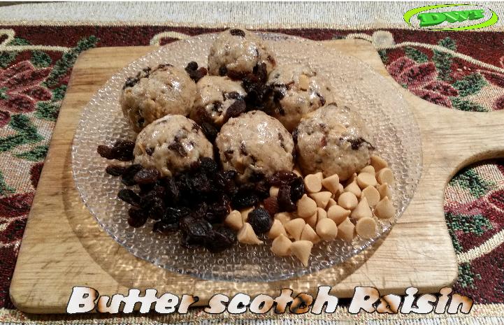 butterscotch raisin protein ball