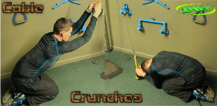 Ab rope crunches