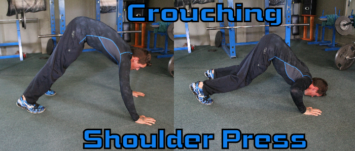 Crouching Shoulder Press