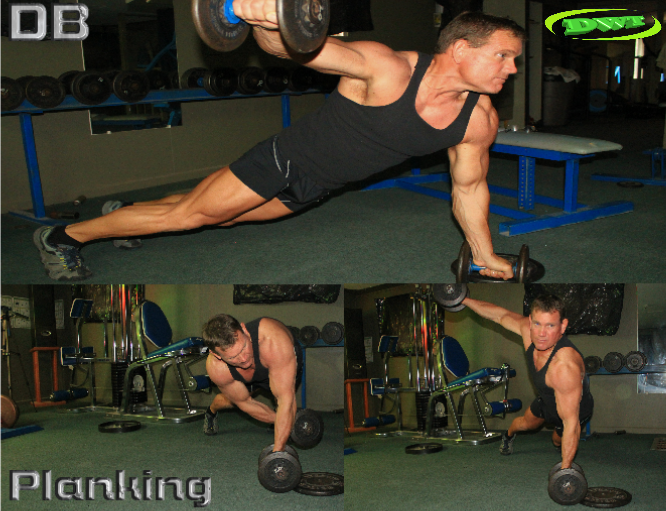 Dumbbell planking exercise