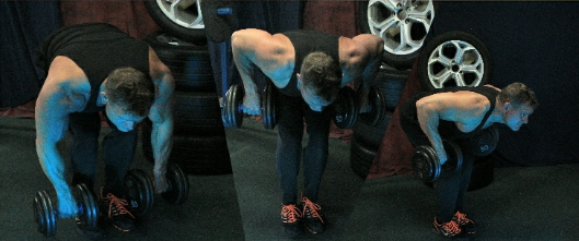 Simultaneous dumbbell rows