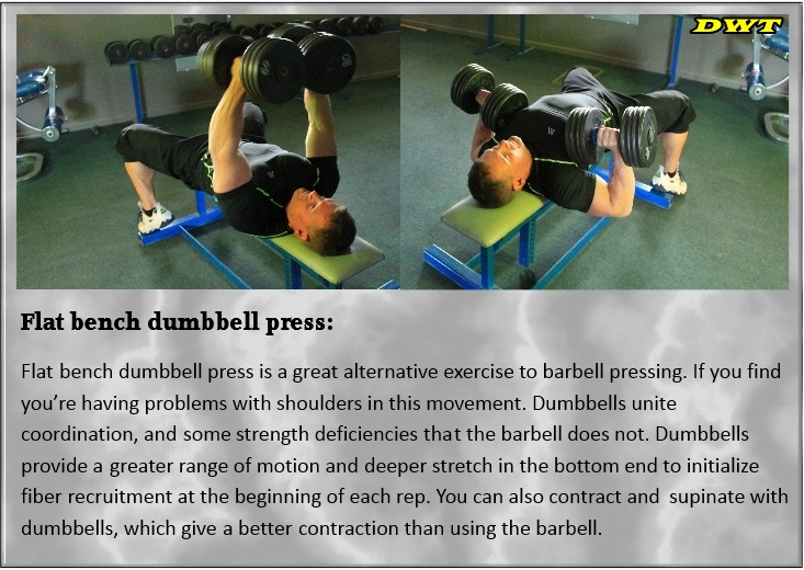 Rotational dumbbell presses