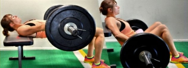 Women's barbell bridges