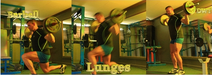 Intermediate barbell lunge