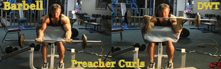 Intermediate barbell preacher curls
