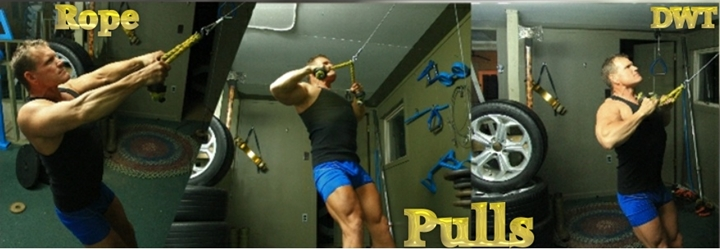 Intermediate rope pulls