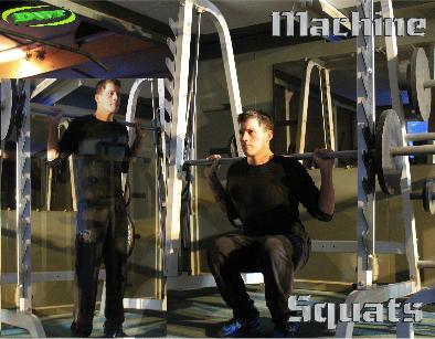 Machine squats