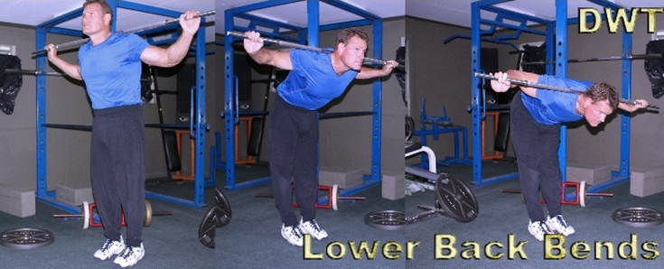 Lower back bar bends