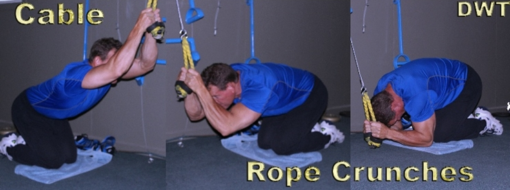 Cable crunches in your 50s