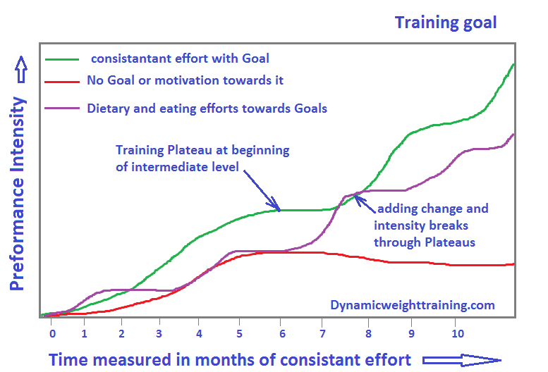 Training plateau chart