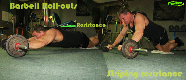 Barbell AB roll-outs