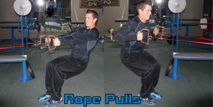 Crouching rope pulls