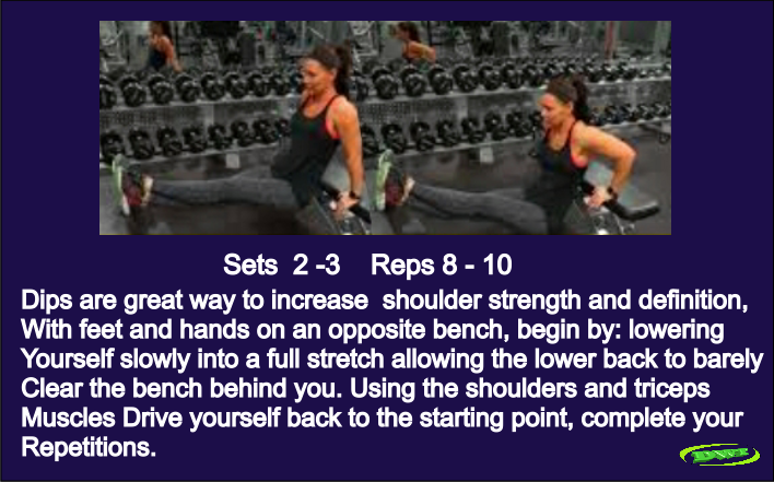 Women's triceps dips