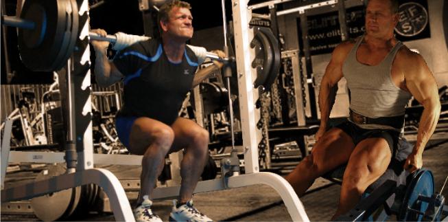 Smith Squats/Leg Extensions