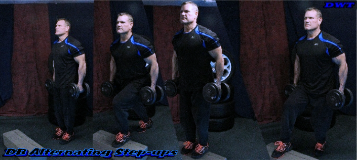 Alternating Dumbbell Step-ups