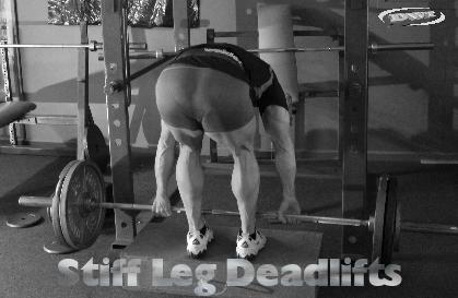 Stiff leg deadlifts