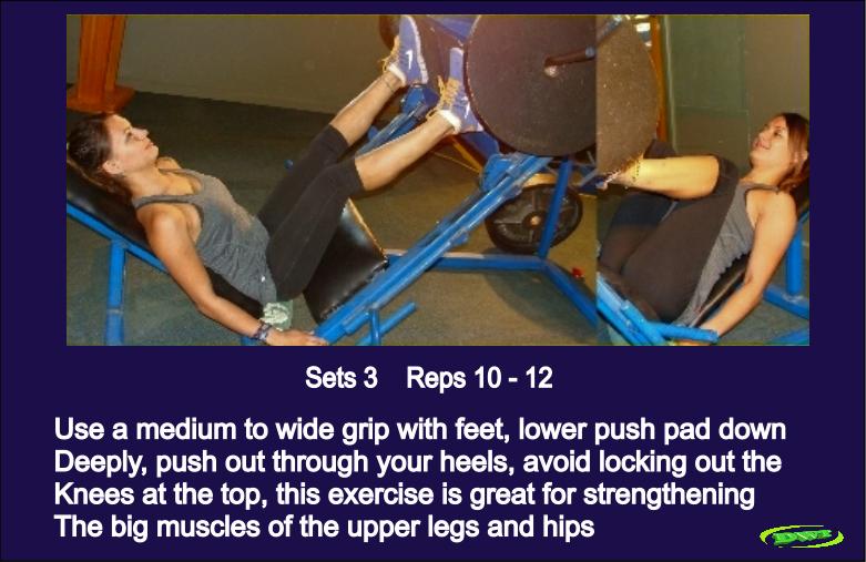 Leg exercise for women