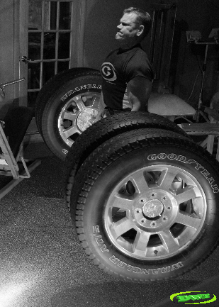 Deadlifting truck tires