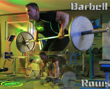 Bent barbell row
