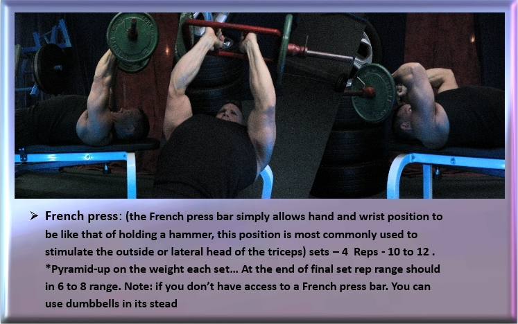 Triceps, French press