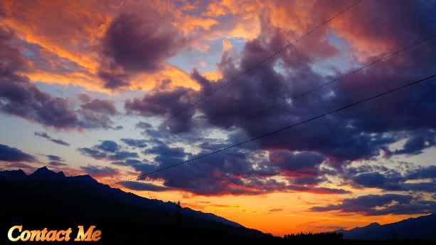 Evening sunset, contact me